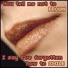 Forgotten how to smile