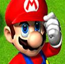 Mario Saluting