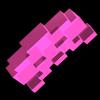 Pink space invader