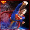 Superman over Earth