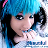 blue emo girl beautiful